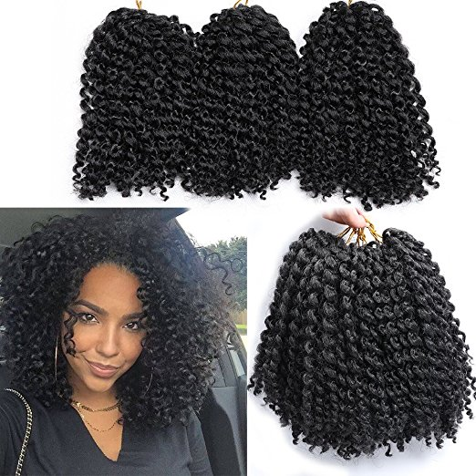 6 Packs Marlybob Crochet Hair Afro Kinky Curly Crochet Hair Extensions
