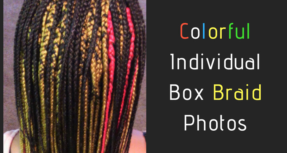 Colorful Individual Box Braid Photos by Izey Hair in Las Vegas Nevada. (1)