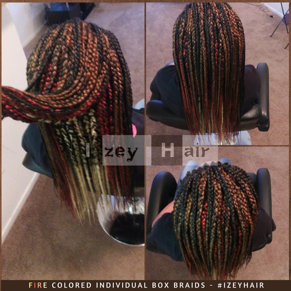 Fire Colored Individual Box Braids