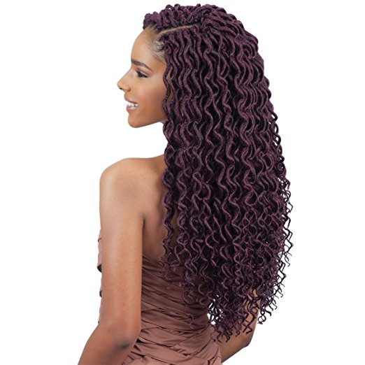 FreeTress 2X Soft Curly Lite Faux Locs Crochet Braiding Hair