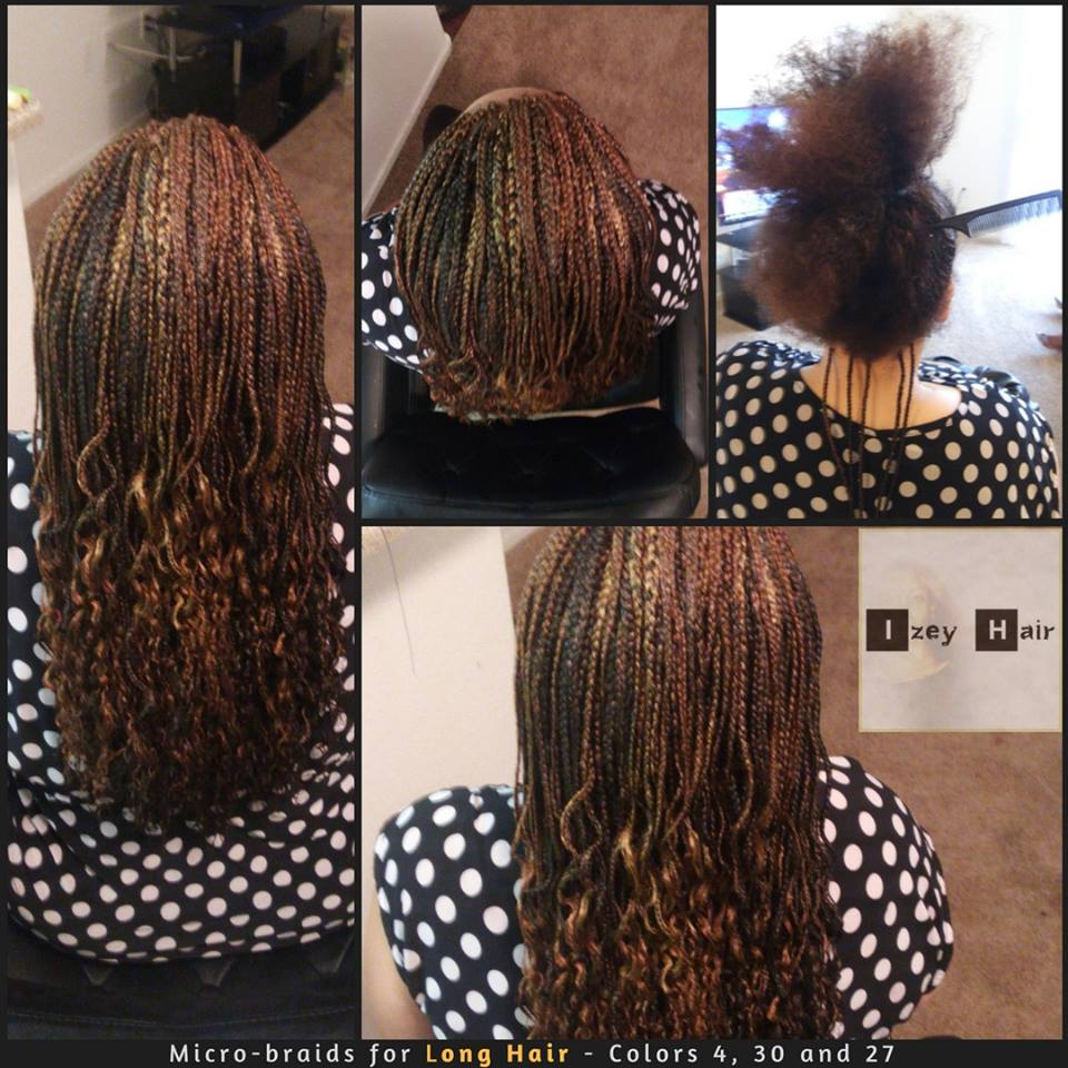 Micro-braids for Long Hair - Colors 4, 30 and 27