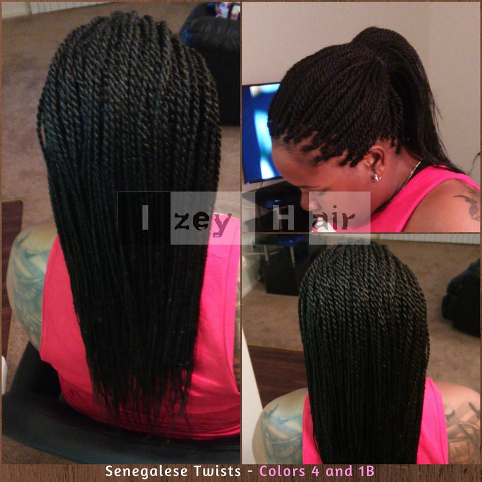 Senegalese Twists - Colors 4 and 1B.