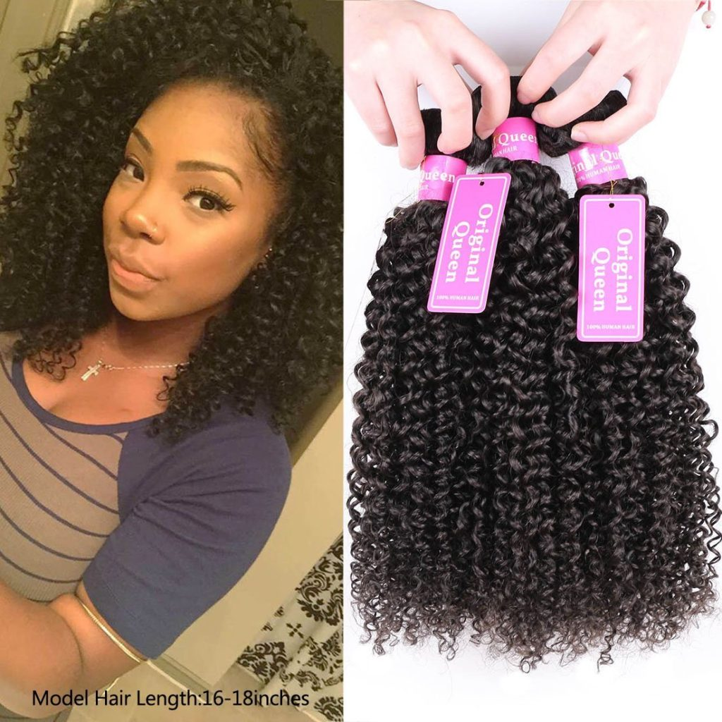 Unprocessed Virgin Brazilian Deep Curly Weave Hair Bundles