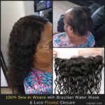 100% Sew-in Weave with Brazilian Water Wave and Lace Frontal Closure Photo by Izey Hair in Las Vegas, NV