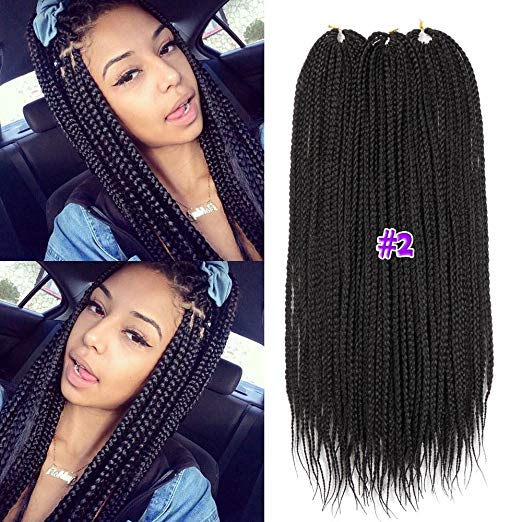 14 inch Crochet Box Braids - Color 2 (brown)
