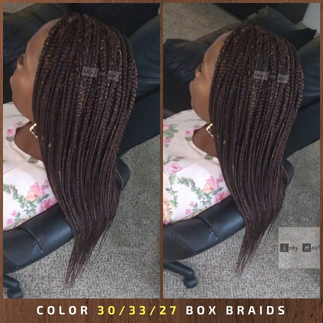 Color 30 33 27 Box Braids Box Braids - Izey Hair - Las Vegas, NV