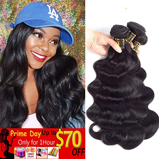 QTHAIR Grade 10A Brazilian Body Wave Virgin Hair - 3 Bundles