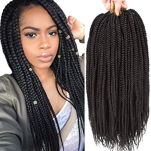 VRHOT 6Packs - 18 inch Crochet Box Braids