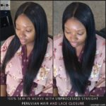 Unprocessed Virgin Hair Straight Hair Peruvian Hair - 100% Sew-in Weave with Lace Closure - Izey Hair - Las Vegas, NV