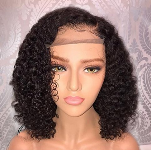 Glueless Curly Brazilian Virgin Remy Human Hair 360 Lace Wig