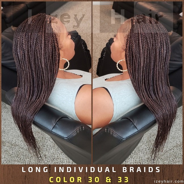 Long Individuals Braids - Color 30 and 33 with Xpressions Braiding Hair