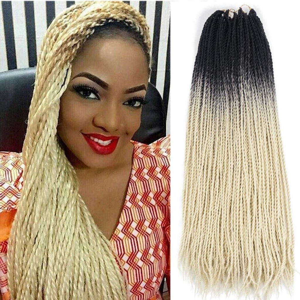 Crochet Senegalese Twist - 2 Colors: black and blond