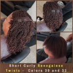 Short Curly Senegalese Twists - Colors 30 and 33