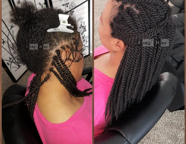 CROCHET Braids Twist with Individual crochet on the Edges - Izey Hair - Las Vegas, NV