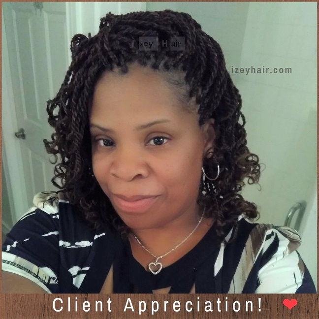 Client Appreciation! ❤ Senegalese Twists. Tasha - Izey Hair - Las Vegas, NV