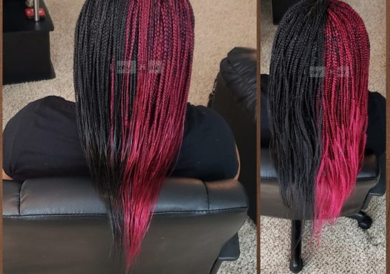 Dipping Braids in Hot Water - Before and After - Izey Hair - Las Vegas, NV
