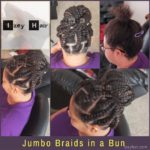 Jumbo Braids in a Bun - Izey Hair - Las Vegas, NV