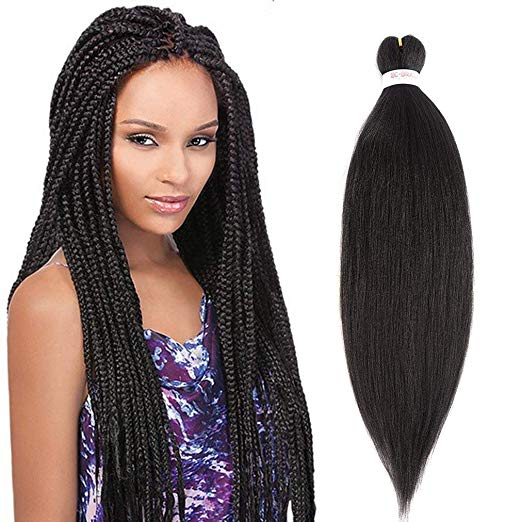 26inch 8 Packs Pre-stretched Easy Braiding Hair Made with 99% Antibacterial Fiber