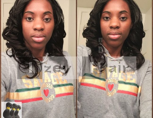 This is a natural-looking sew-in weave with unprocessed virgin human hair.