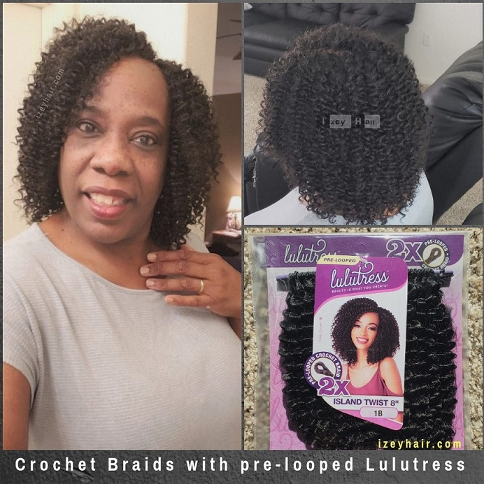 Crochet Braids with pre-looped Lulutress Island Twist 8 inches - Izey Hair - Las Vegas, NV