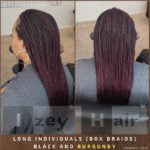 Long Individuals (Box Braids) BLACK and BURGUNDY - Izey Hair - Las Vegas, NV