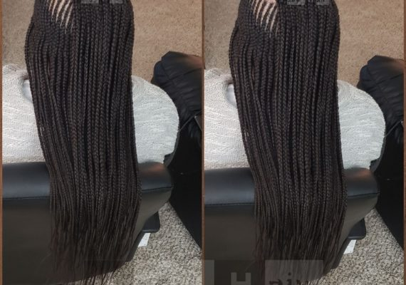 Long Layered Feed-in Braids (Cornrows) - Izey Hair - Las Vegas, NV