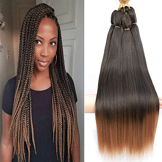 Pre-Stretched Ombre Straight Hair for Crochet and Braiding