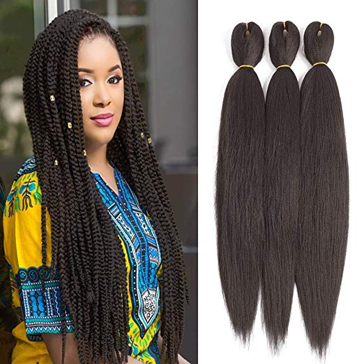 Pre-Stretched Straight Hair for Braiding and Crochet