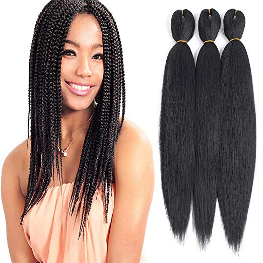 16 inch Prepped Pre-Stretched Straight Hair for Braids and Crochet