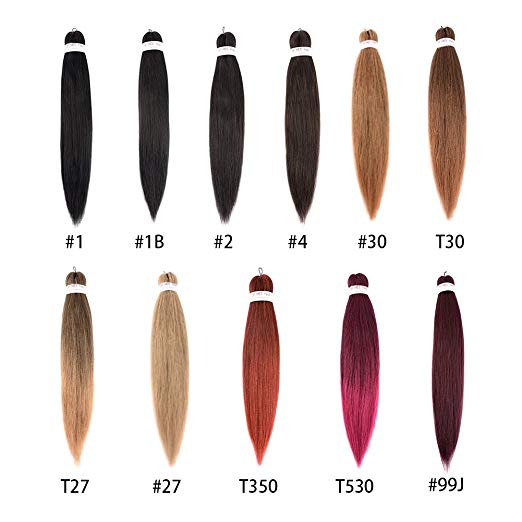 Your choice of Color Pre-stretched Itch-free Braiding Hair