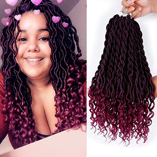 Crochet Ombre Faux Locs – Color 1B and Burgundy