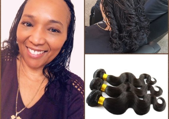 Microbraids with Brazilian Body Wave 100% Unprocessed Human Hair - Izey Hair - Las Vegas, NV