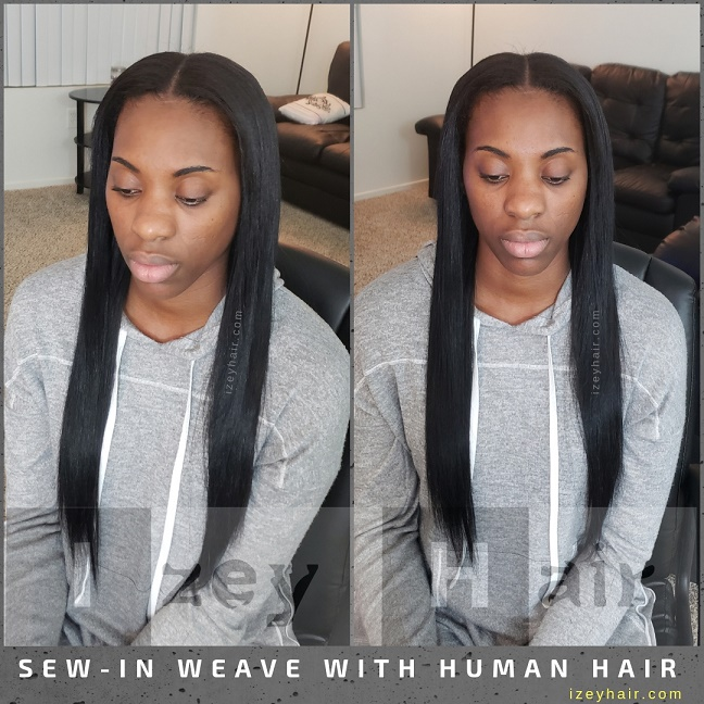 Sew-In Weave with Human Hair - Izey Hair - Las Vegas, NV (2)