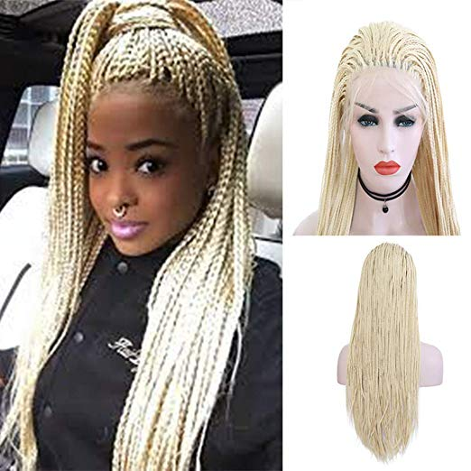 Braided Wig - Long Blond Box Braids
