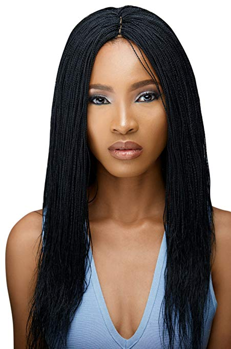 Braided Wig - Microtwists - Senegalese Twists Color 1