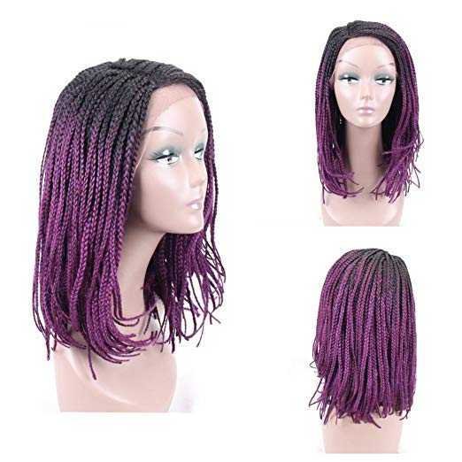 Braided Wig - Purple Bob Box Braids