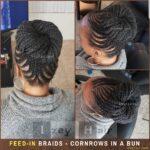 Feedin Braids Cornrows in a Bun