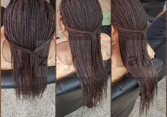 Long Individual Box Braids 2019 - Colors 4, 30 and 33 - Las Vegas, NV - Izey Hair