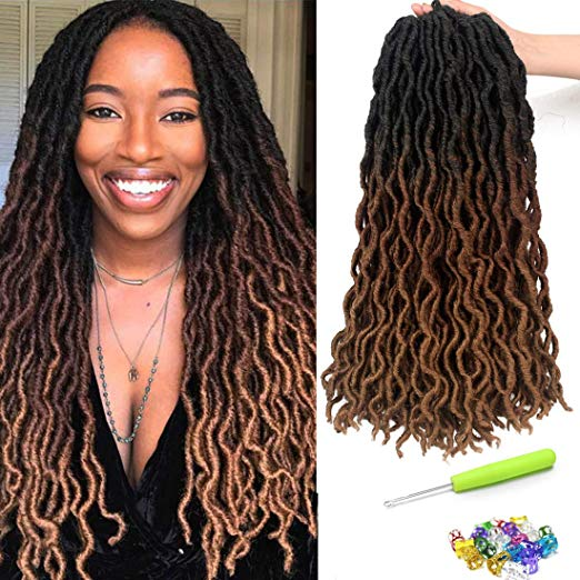 Straight Ombre Faux Locs