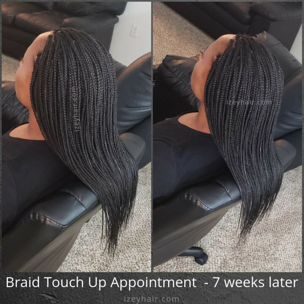 Braid Touch Up Appointment - 7 weeks later