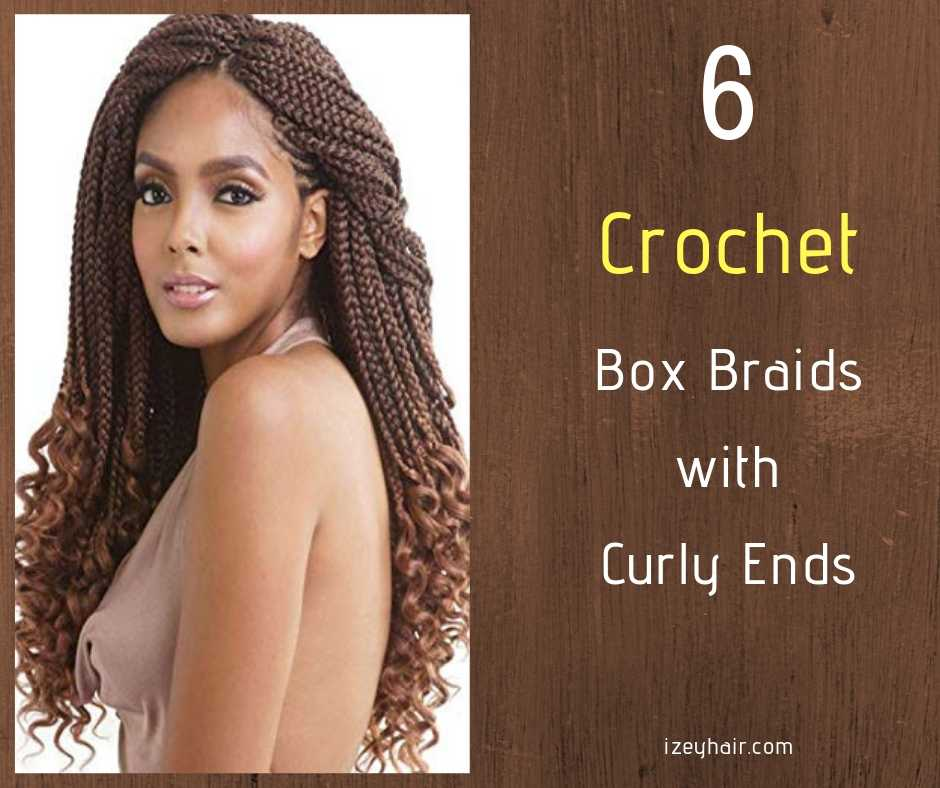 6 Crochet Box Braids With Curly Ends - izeyhair.com
