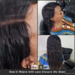 How to Sew In A Square 4x4 Closure Without Glue
