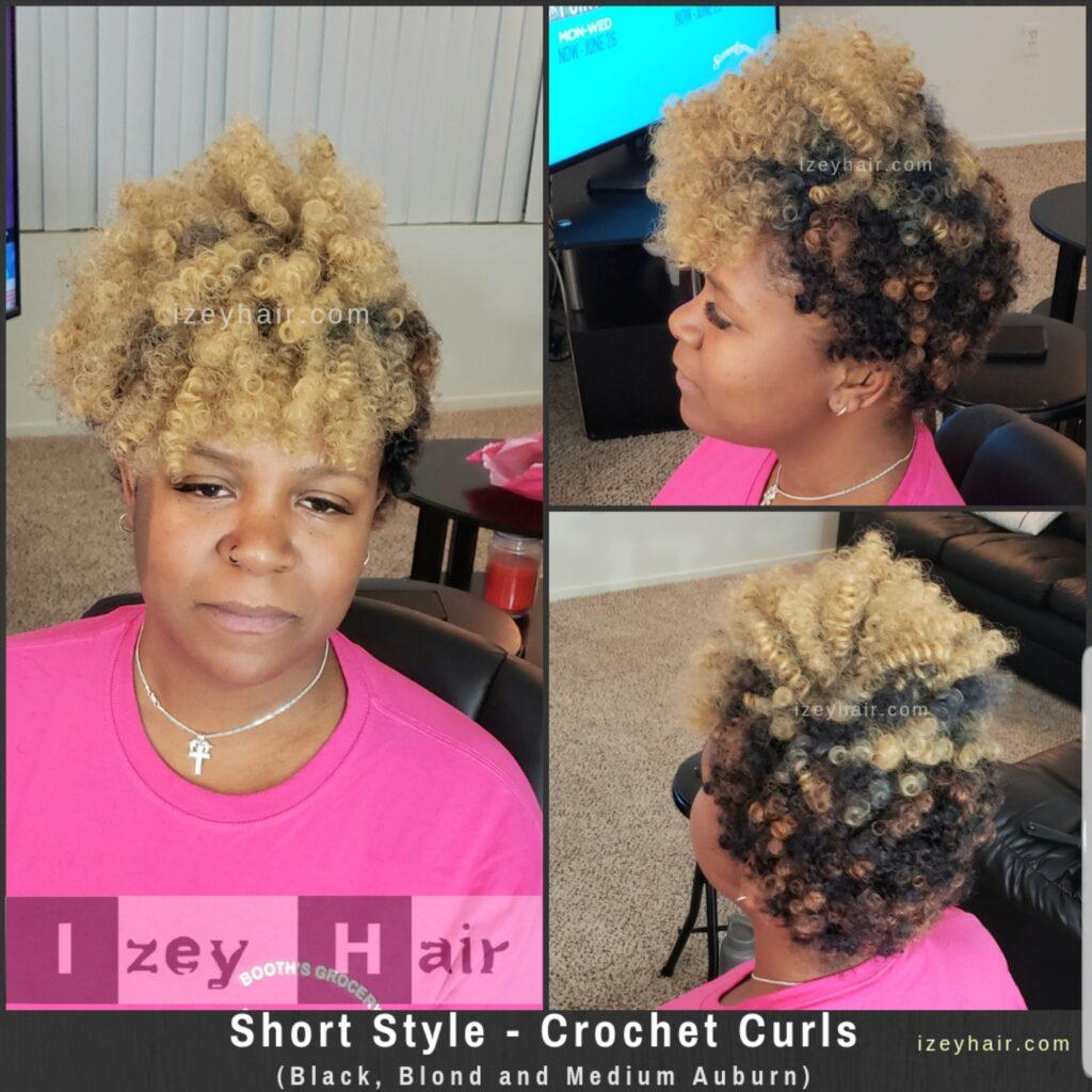 Jamaican Bounce Crochet Hair - Short Jumpy Wand Curl