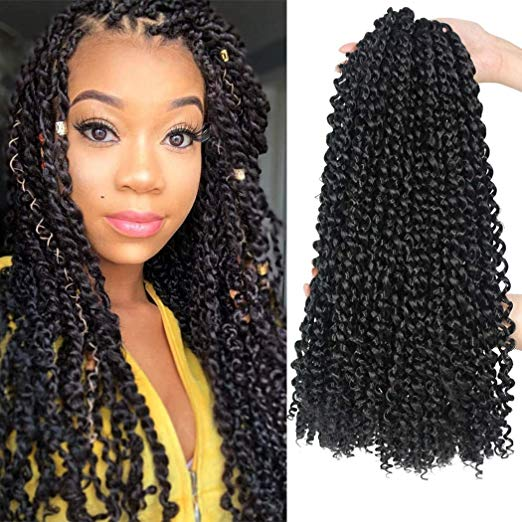 Passion Twist Hair (Color 1B - 18 inch - 7 packs)