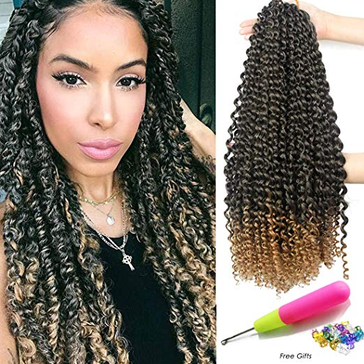 Pre-Looped Passion Twist Hair (Color T27 - 18 inch - 6 packs)