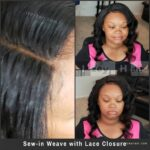 Sew-in Weave with Lace Closure. Plus how to attach a lace closure without glue.