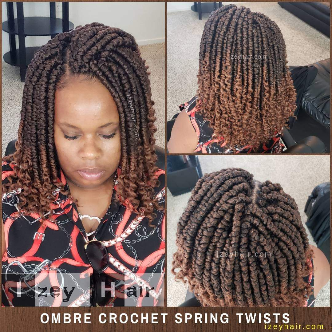 Ombre (Brown and Blond) Crochet Spring Twists