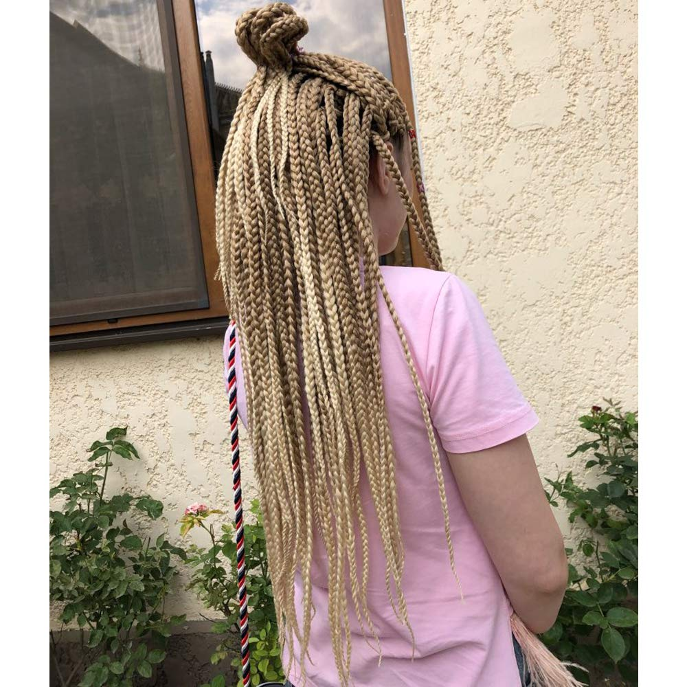 24 Inch, 6 Packs, 27/613, Ombre Box Braids - Crochet Braids