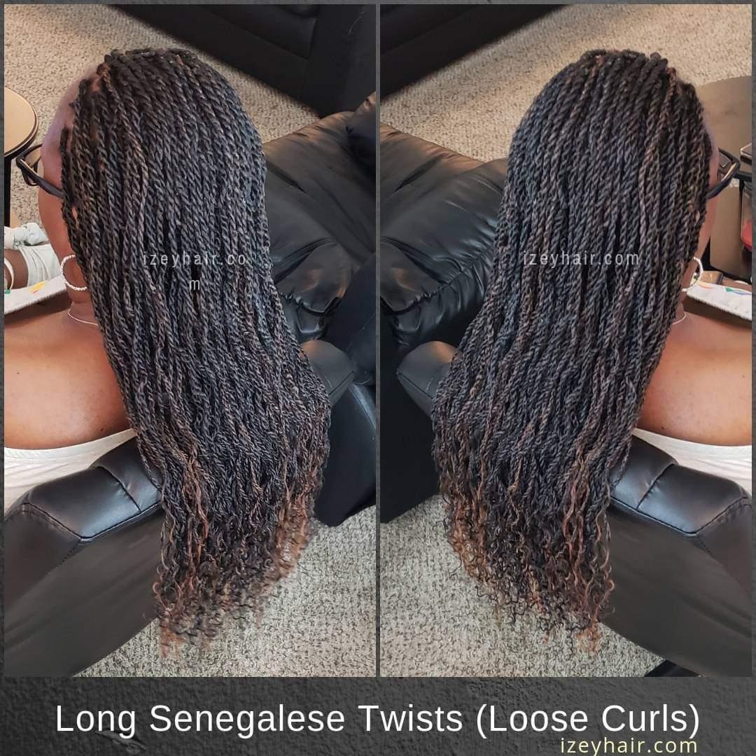 Long Senegelese Twists - Loose Curls