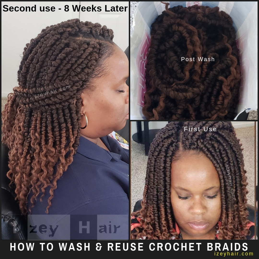 How to Wash and Reuse Crochet Braids (Crochet Hair)